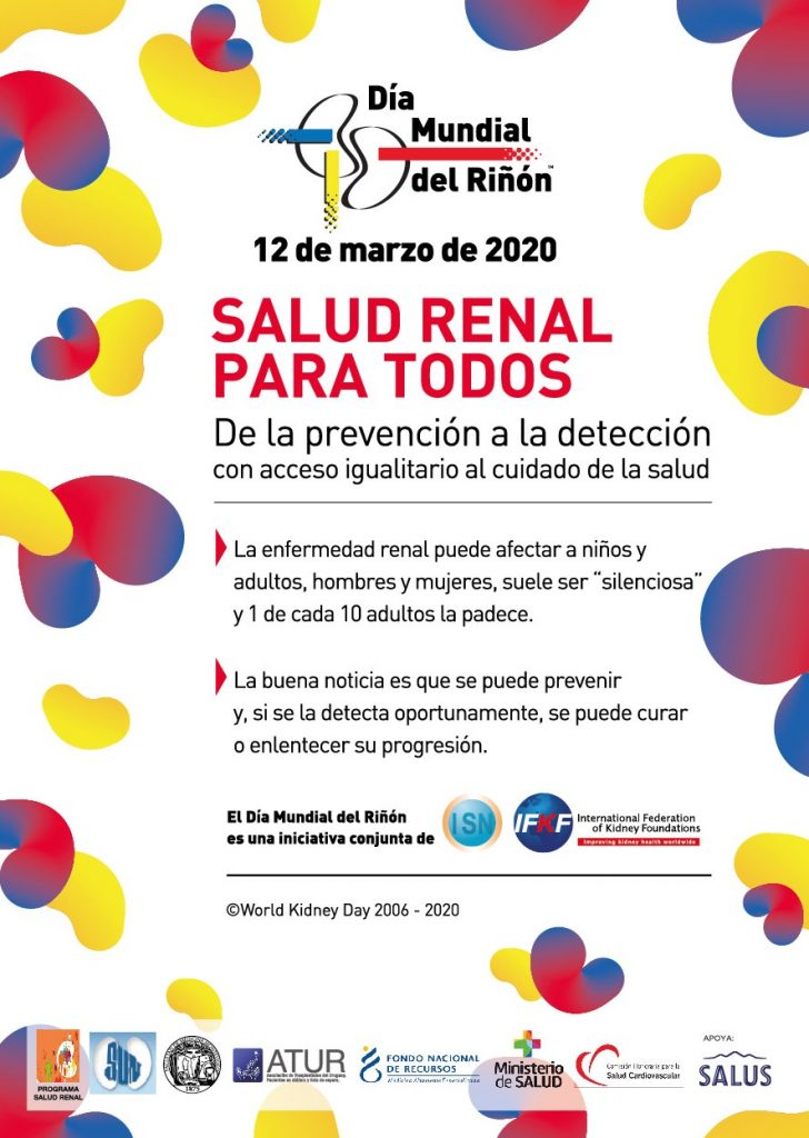 Dia Mundial Del Rinon 2020 Comision Honoraria Para La Salud Cardiovascular